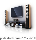 Modern TV and sound system 27579610