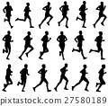 18 marathon runners silhouettes 27580189