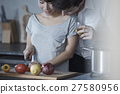 厨房 男人和女人 男女 27580956