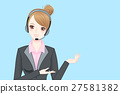 business woman wear phone headset 27581382