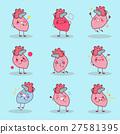 cartoon heart do different emotion 27581395