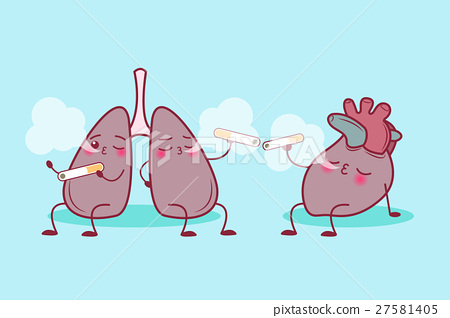 lung and heart enjoy smoke 27581405