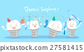 cute cartoon dental implants 27581415