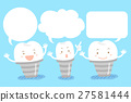 tooth implant with speech bubble 27581444