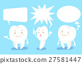 cartoon tooth with speech bubble 27581447
