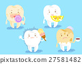 cartoon tooth with different problems 27581482
