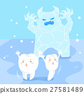 cute cartoon sensitive tooth 27581489