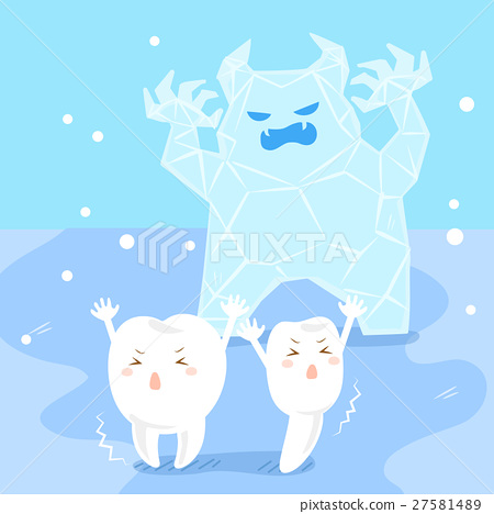 cute cartoon sensitive tooth 27581489