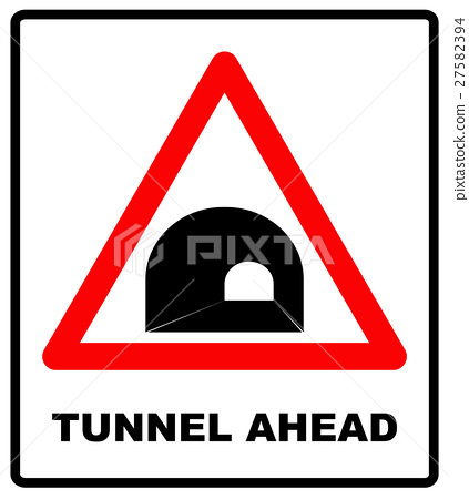 Russia Tunnel Ahead Sign 27582394