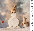 snowman and guests 27583399