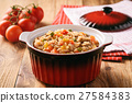 Rice prepared with beef and vegetables. 27584383