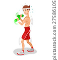 illustration of an athlete 27586105