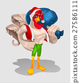 illustration of a rooster - Santa Claus 27586111