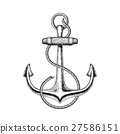 illustration of a nautical anchor 27586151