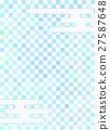 格子圖案 棋盤狀圖案 打鉤 27587648