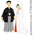 japanese clothing, white kimono, hakama with family crest 27588184
