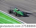 Formula 2 race car racing on a track  27588866