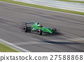 Motion blur of racing car 27588868