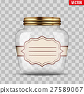 Glass Jar for canning with label 27589067