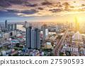 曼谷 市中心 黃昏 27590593