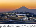 Haneda airport sunset view and Mt. Fuji 27590659