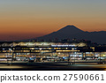 haneda airport, sunset, evening scene 27590661