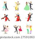 Professional Dancer Couple Dancing Tango, Waltz 27591063