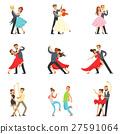 Professional Dancer Couple Dancing Tango, Waltz 27591064
