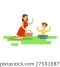 野餐 兒子 母親 27591087