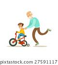 grandpa grandchild bicycle 27591117