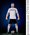 soccer player man isolated 27591500