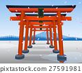 Japan Gate - Torii gate.Vector Illustration 27591981