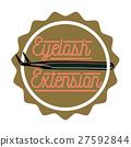 Color vintage eyelash extension emblem 27592844