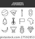 Africa icons set 27592853