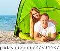 海灘 幸福 營地 27594437