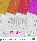 Water Transparent Drops Seamless Pattern 27595303