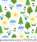 Vector hand drawn forest background 27595526