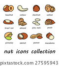 vector nut icons collection 27595943