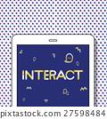 Geometric Font Media Technology Sharing Concept 27598484