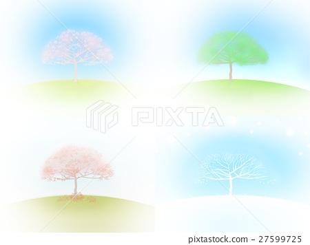 Background Spring, summer, autumn, winter, illustration 27599725