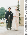 japanese clothing, bridal couple, bride and groom 27600196