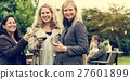 Women Drinking Wine Together Concept 27601899