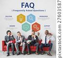 Customer Service FAQs Illustration Concept 27603587