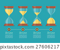 Transparent sandglass icon set 27606217