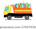 Garbage Truck with Trash 27607938