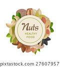 Nuts Healthy Food Concept Vector in Flat Design. 27607957