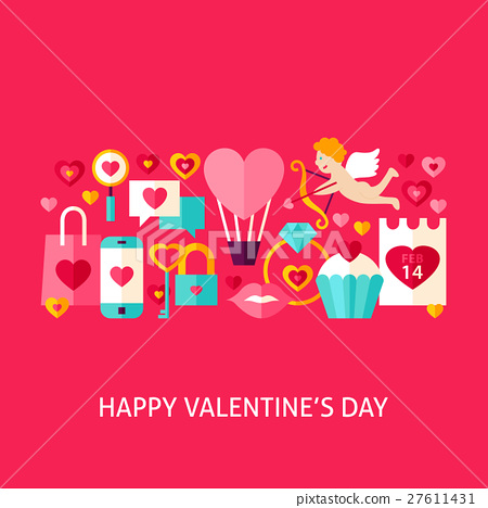 Happy Valentine Day Greeting Card 27611431