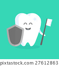 Cute cartoon tooth character with face 27612863