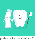 Cute cartoon tooth character with face 27612871