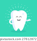 Cute cartoon tooth character with face 27612872